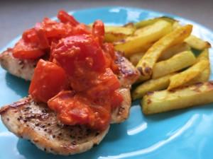 Paprikaschnitzel mit Kohlrabipommes