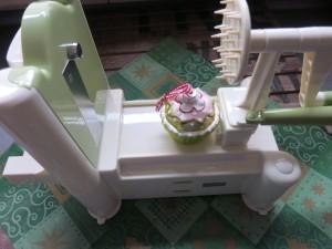 Lurch Spiralschneider in grün / creme