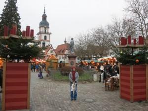 Zugang Weihnachtsmarkt