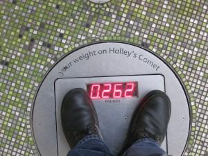 Mein Gewicht auf dem Halleyschen Kometen