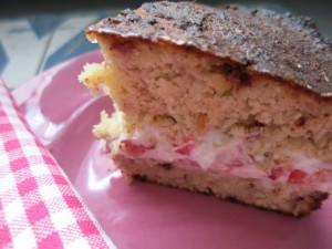 Kokos-Erdbeer-Torte