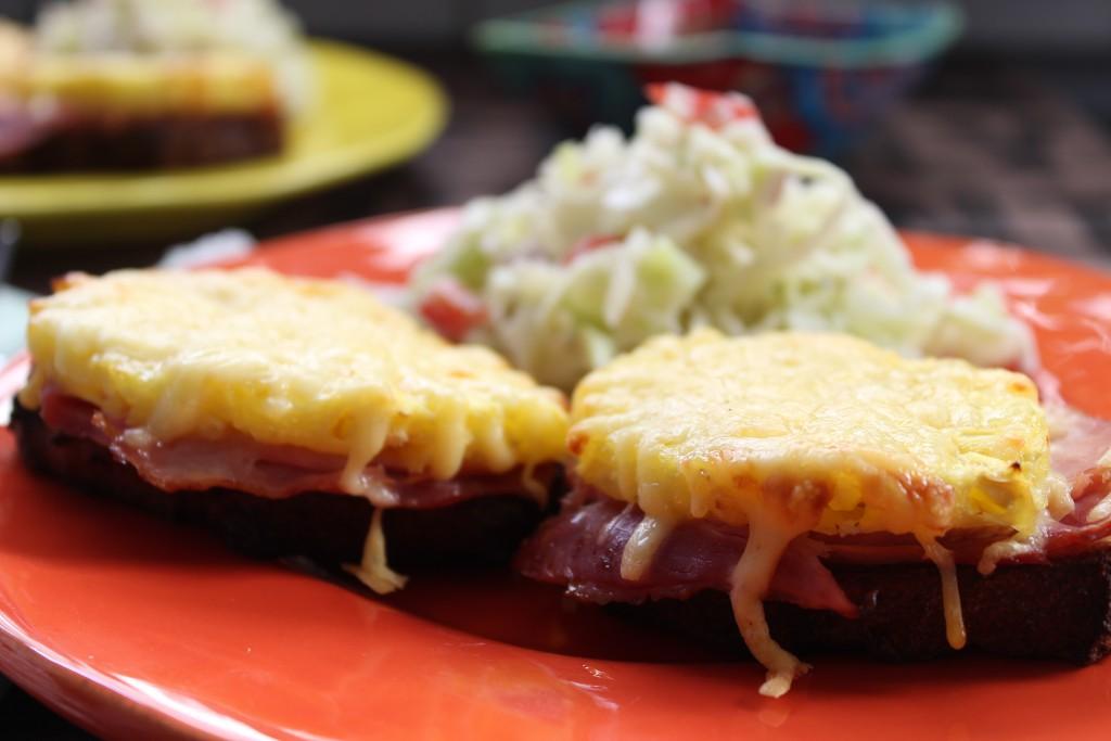 low carb toast hawaii mit kokos krautsalat happy carb rezepte. Black Bedroom Furniture Sets. Home Design Ideas