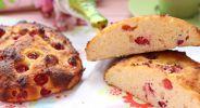 Johannisbeer-Kokos-Quarkteilchen