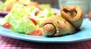 Nürnberger Röllchen mit buntem Salat