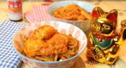 Tomatiges Lachs-Curry mit Rettich-Goreng