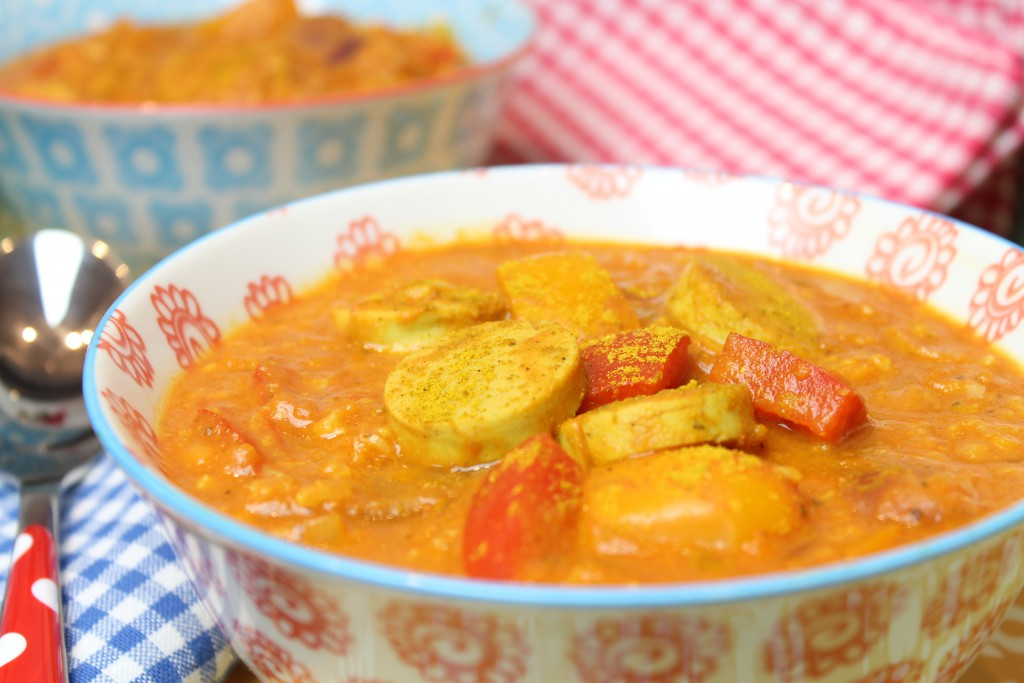 Currywurstsuppe - Happy Carb Rezepte