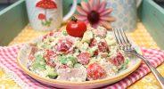 Frühstückssalat mit Schinken