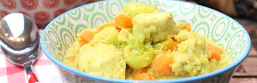 Gemüse-Hähnchen-Currytopf