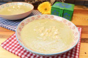 Feta-Kohlrabicremesuppe