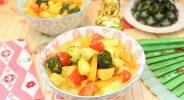 Hähnchen-Ananas-Curry-Topf