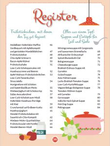 Rezeptregister Buch Meine liebsten Low Carb Rezepte, PDF, 11 MB