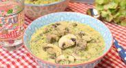 Putenfrikassee in Brokkoli-Käsecreme