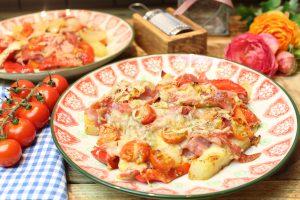 Pizzachaos aus dem Ofen