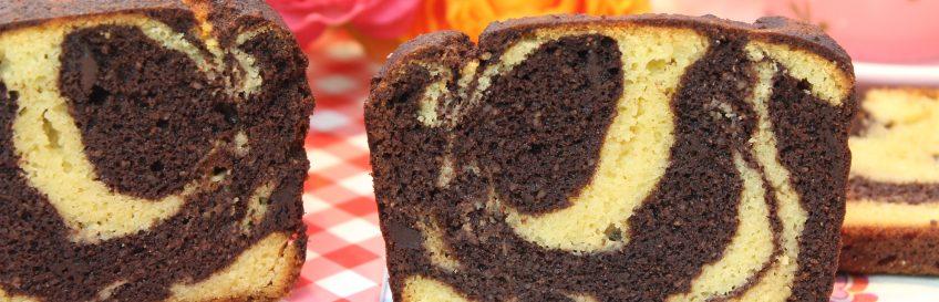 Schokoladiger Low Carb Marmorkuchen