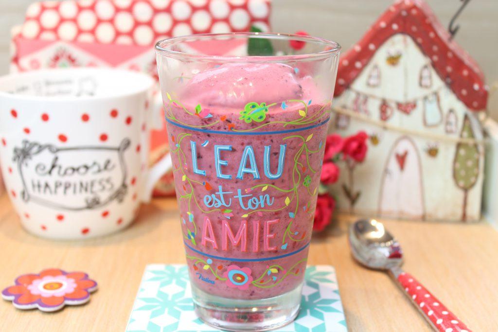 Frozen-Joghurt-Smoothie - Rote Grütze