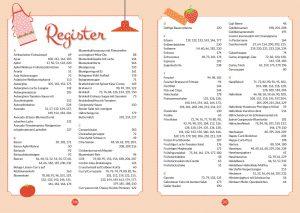 Buch Meine liebsten Low Carb Rezepte Vorschau vollständiges Register