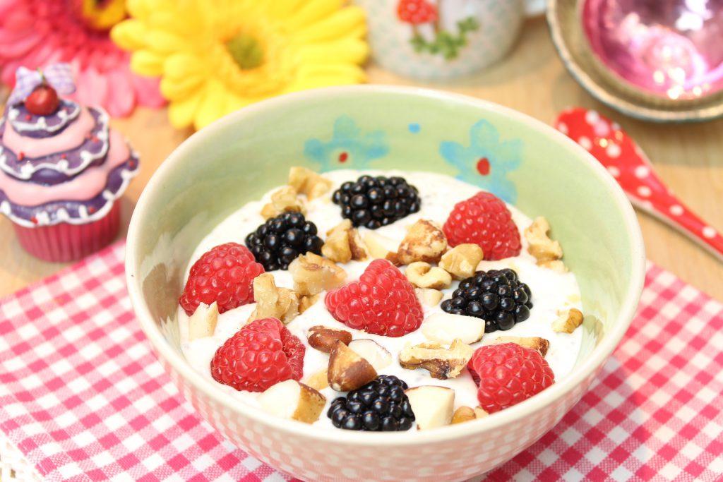 Haferkleie-Dickmilch-Frühstück