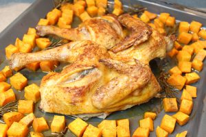 Plattes Huhn mit Süßkartoffel-007