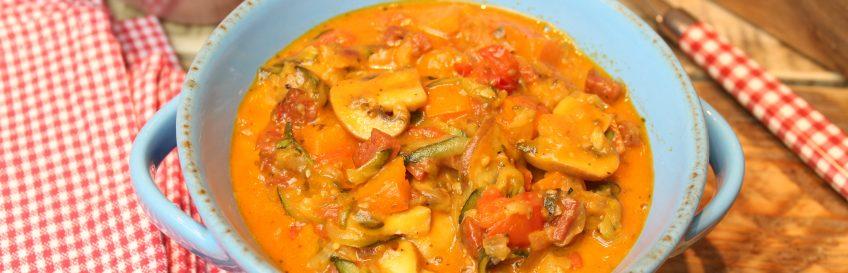 One Pot – Low-Carb-Gemüsepizzamix