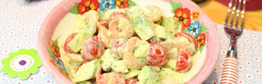 Schneller Keto-Garnelen-Avocadosalat