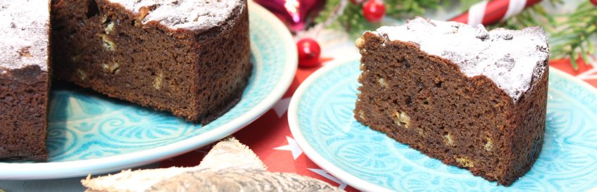 Spekulatius-Macadamia-Schokoladenkuchen