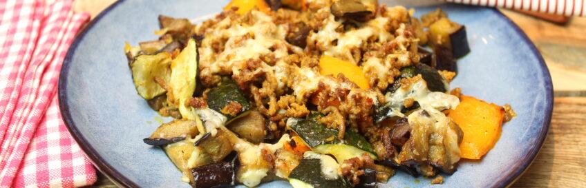 Keto-Gemüse-Ofenblech mit Curry-Kokoshack