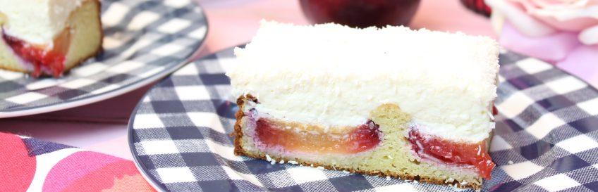 Pflaumenkuchen mit Raffaellocreme