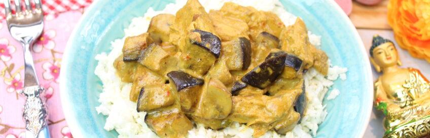 Schneller Kokos-Blumenkohlreis mit Veggie-Currypfanne