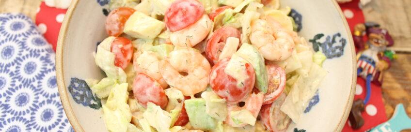 Gute-Laune-Salat mit Garnelen und Avocado