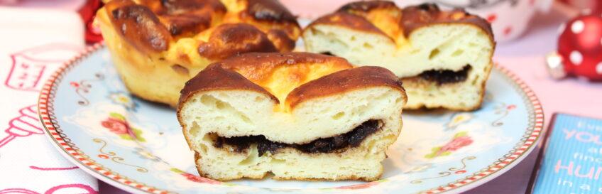 Low Carb Cheesecake-Küchlein mit Schokocremekern
