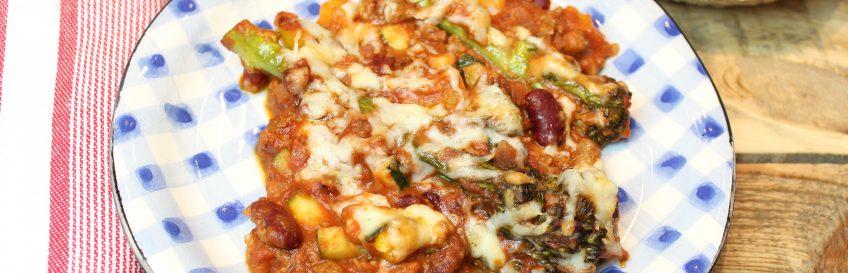 Überbackene Veggie-Chilipfanne