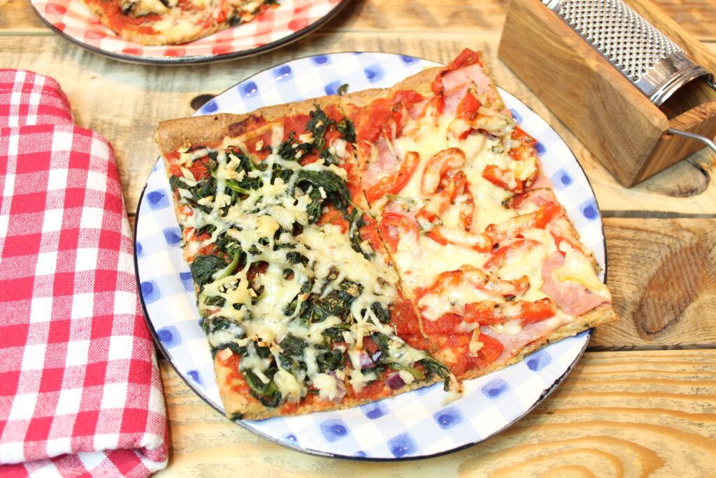 haferkleiepizza vier jahreszeiten  happy carb rezepte
